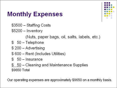 Activity 8 - Monthly Expenses